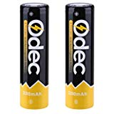 Odec 18650 Battery 3.7V 45A 18650 High Drain Rechargeable Batteries 3350mAh Li ion INR with Flat Top 2 Pac