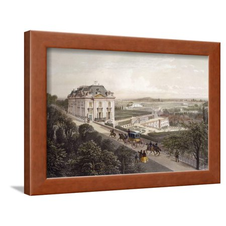 View Terrace - View from Upper Terrace at Meudon, France 19th Century Engraving Framed Print Wall Art