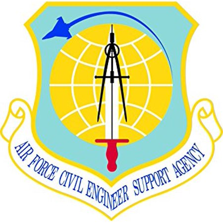 Air Force Civil Engineer (MAGNET US Air Force Civil Engineer Support Agency Decal Magnetic Sticker 3.8