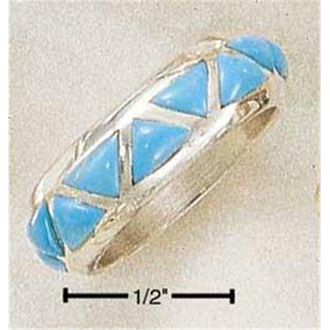 Plum Island Sterling Silver Inverted Turquoise Triangles ...