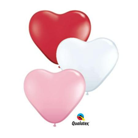 6 inch Heart Balloons - Sweetheart Assortment - 6 Foot Water Balloon