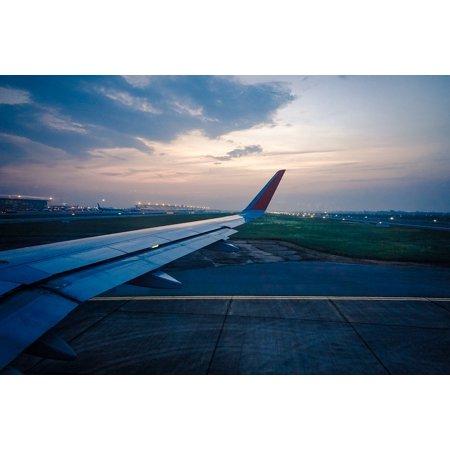 laminated poster travel jet airplane plane trip air sky flight