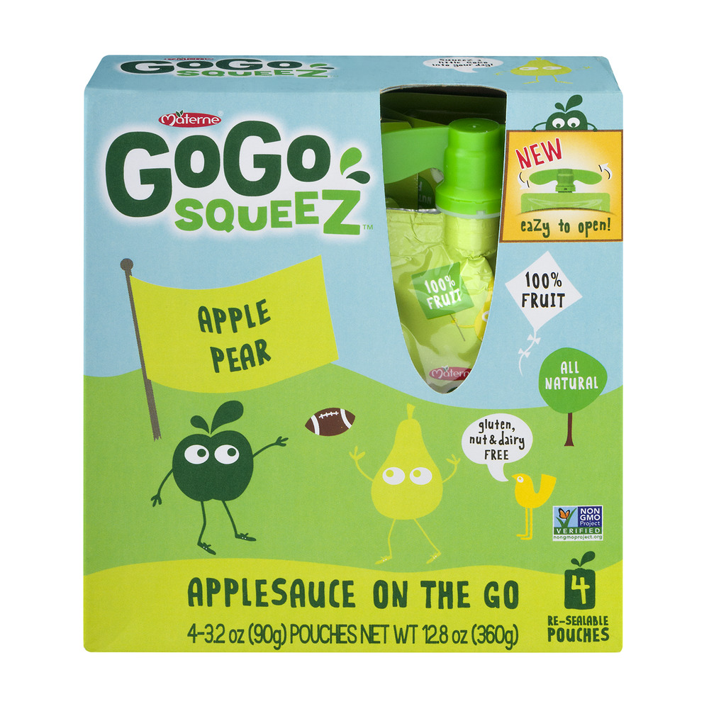 GoGo Squeez Applesauce On The Go Apple Pear - 4 CT