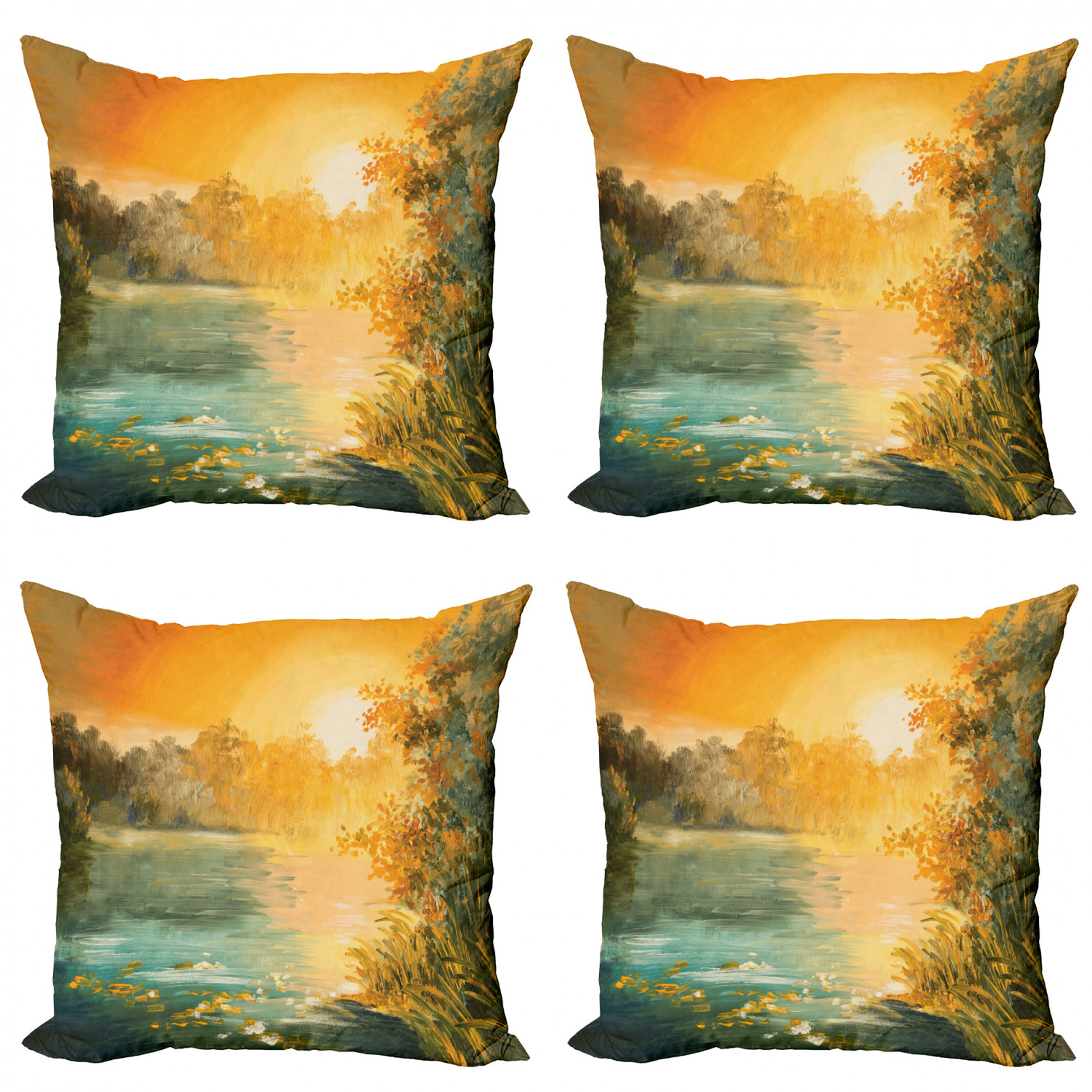 Country Throw Pillow Cushion Case Pack of 4, Pastel Color ...