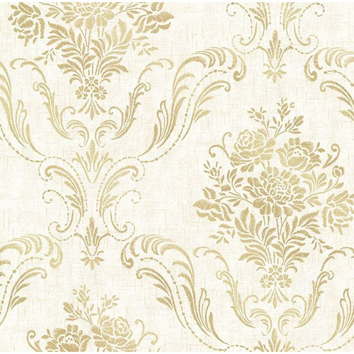 Brewster Home Fashions Avalon Manor 33' x 20.5'' Damask 3D Embossed Wallpaper