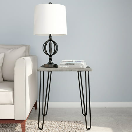 End Table with Hairpin Legs-Modern Industrial Style Deccor by Lavish Home ()