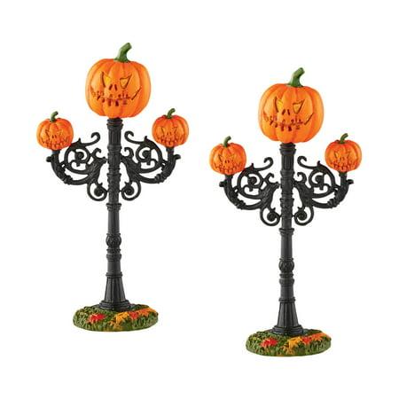 Dept 56 Halloween Vilage 4054265 Scary Jack-O-Lantern St Lamp Retired - Dept 56 Halloween Retired