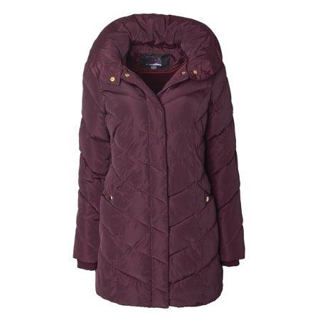 ceadba256 Sportoli - Sportoli Womens Packable Winter Chevron Quilted Fleece ...