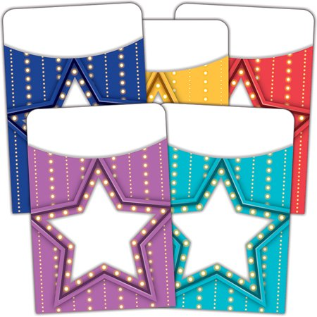 MARQUEE LIBRARY POCKETS MUTIL PACK - Library Card Pockets