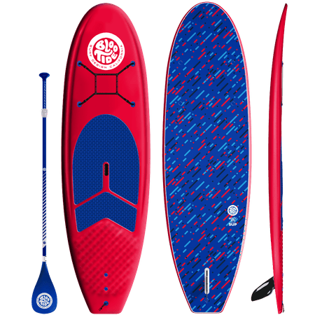 Bloo Tide 9'6 Soft Top Stand Up Paddleboard, Paddle, Leash and Fins Included