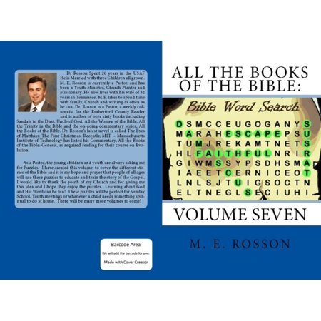 All the Books of the Bible: Bible Word Search-Volume Seven