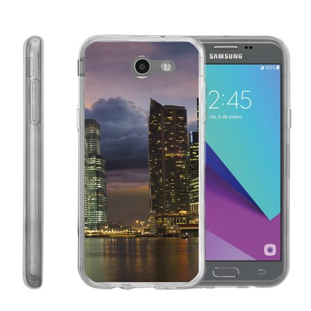 Case for Samsung Galaxy Sol 2   Amp Prime 2   Express Prime 2 [ Flex Force ] Flexible Clear Case City Travel Series