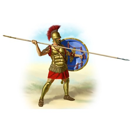 Peel-n-Stick Poster of Greek Romans Soldier Spear Gladiator Hoplite Poster 24x16 Adhesive Sticker Poster Print - Roman Spear