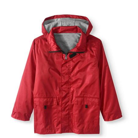 Boys' Lined Rain Slicker Jacket - Boy Leather Jacket