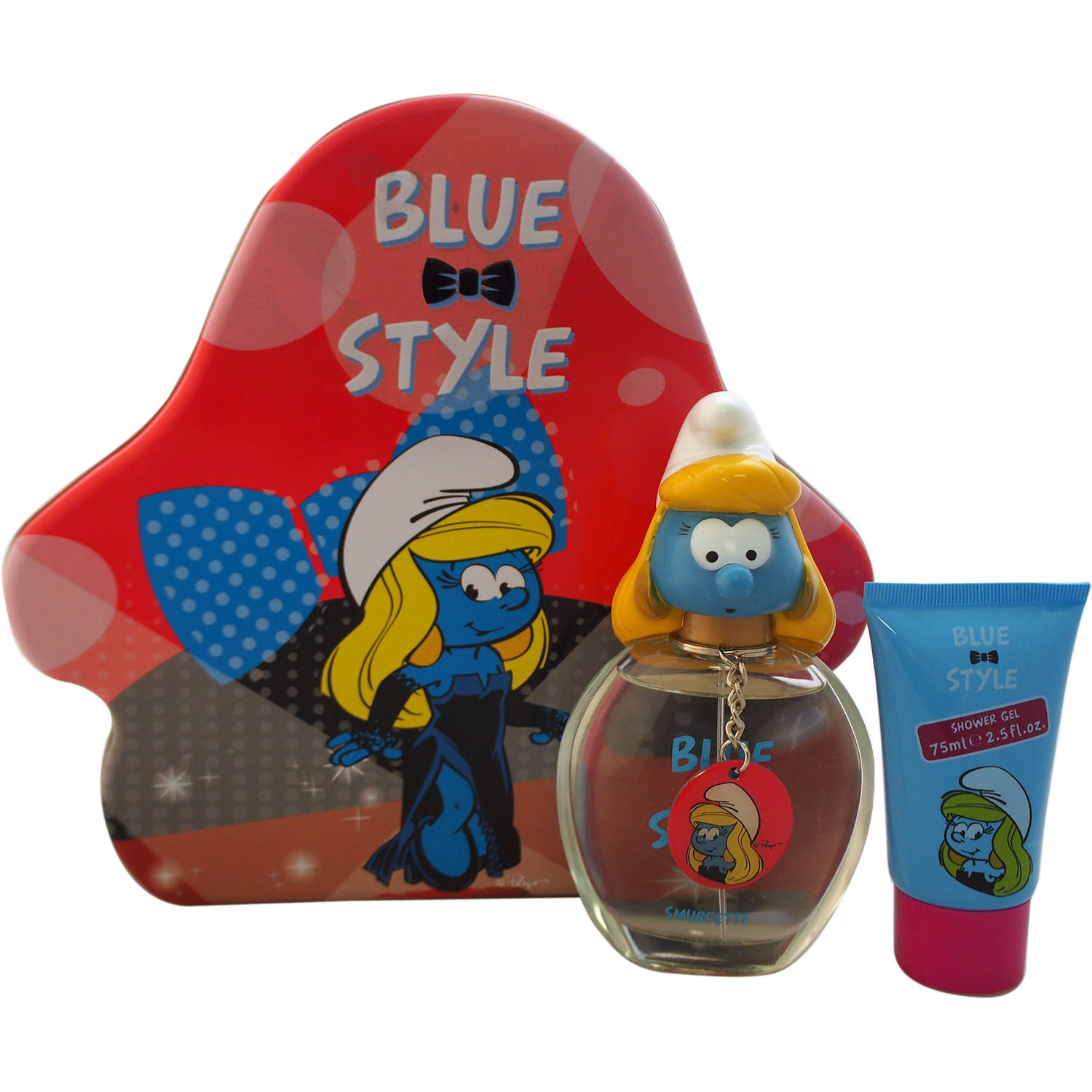 First American Brands The Smurfs Blue Style Smurfette Gift Set for Kids, 3 pc
