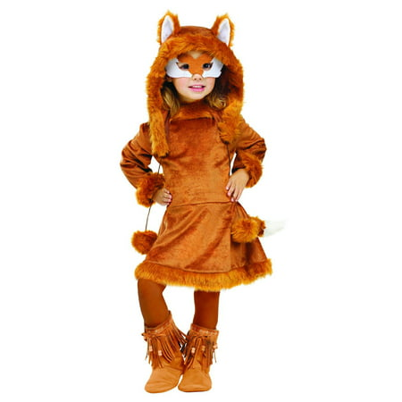 Sweet fox animal dress child toddler girls halloween costume 3t-4t (Fox Costume Girl)