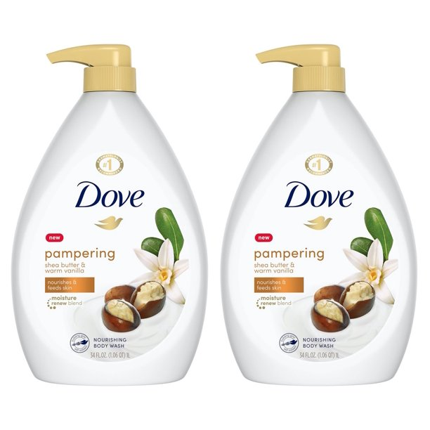 2 Pack Dove Purely Pampering Shea Butter With Warm Vanilla Body Wash Pump 34 Oz Walmart Com Walmart Com