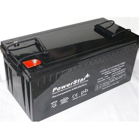 PowerStar PS200-12-6 Replacement SB 4D AGM 12V 200Ah Sealed Lead Acid Power Sport (Ps200 Replacement)