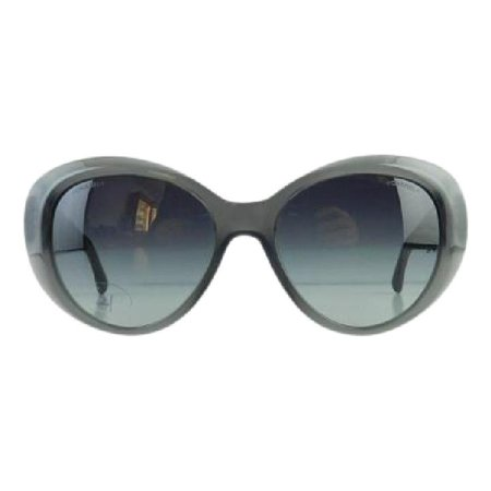 Gently Used Chanel 5318-Q 1510/S6 Gray Plastic Sunglasses (Sunglasses Chanel Women)