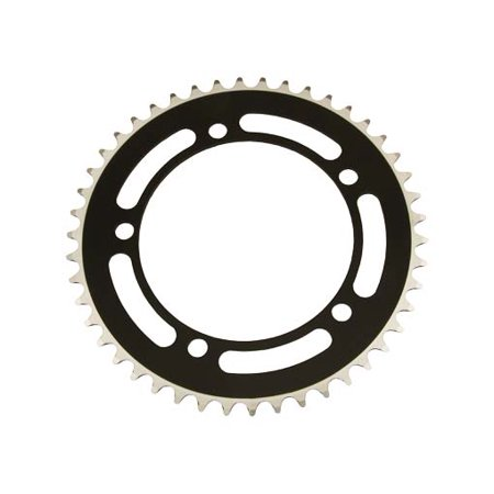 Alloy Chainring 1/2 x 1/8 46t Black. for bicycles, bikes, for beach cruiser, mountain bike, track, fixies, fixed gear
