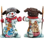 G Debrekht Masterpiece Fun in The Snow Santa Figurine