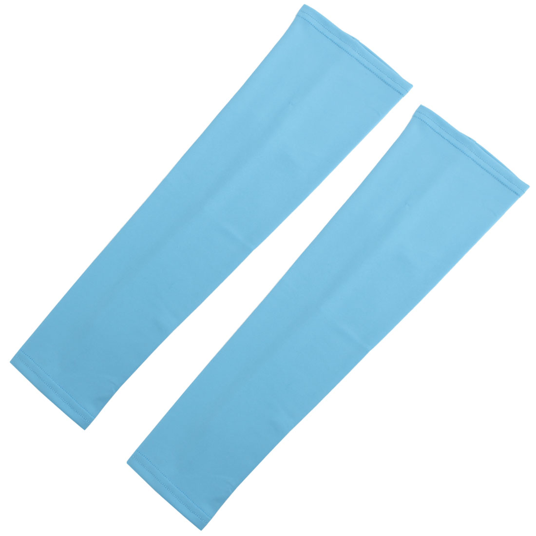 Outdoor Sports Bicycle Cycling Sun Protection Cover Arm Sleeves Sky Blue Pair