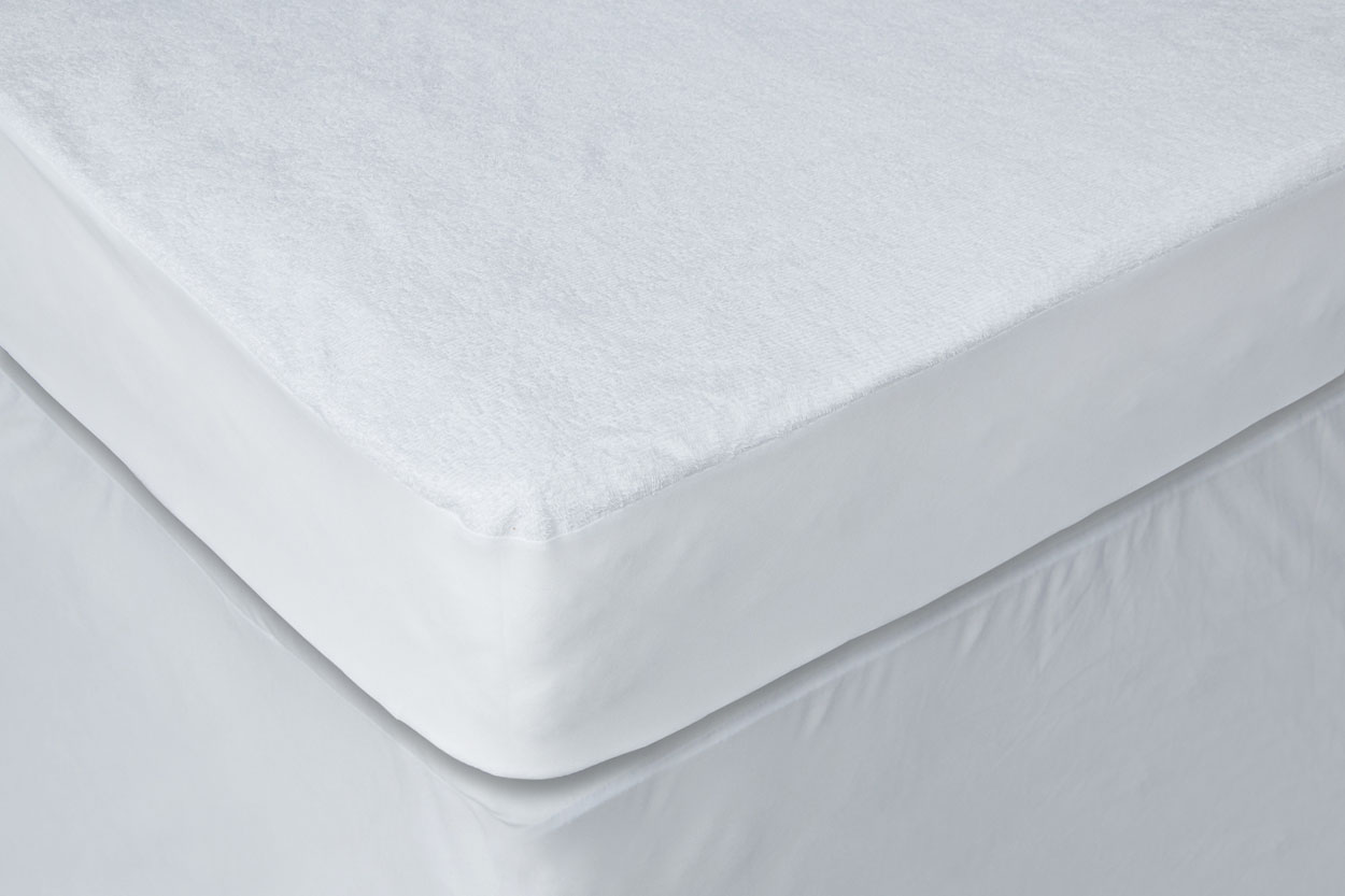 Waterproof Terry Cotton Fabric Hypoallergenic Twin Extra Long Mattress Protector by AC Pacific