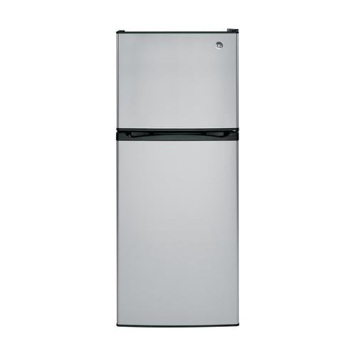 Gpe12fsksb 24 Energy Star Qualified Top Freezer Refrigerator 11 55 Cu Ft Capacity Upfront Electronic Temperature Controls 2 Adjule Spill Proof Gl