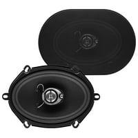 Sound Storm SLQ357 300 Watt (Per Pair), 5 x 7 Inch, Full Range, 3 Way Car Speakers (Sold in Pairs)