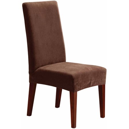 Sure fit stretch pique short dining room chair slipcover for 4 dining room chair covers
