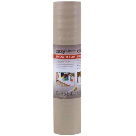 Easyliner Solid Grip 12 In X 7 Ft Shelf Liner Taupe