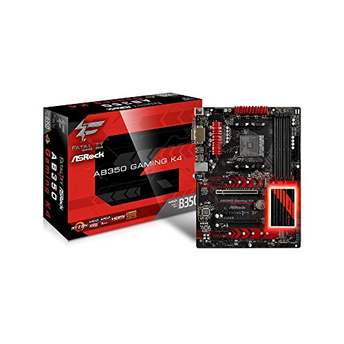 ASRock FATAL1TY AB350 GAMING K4 Socket AM4/ AMD B350/ DDR4/ SATA3&USB3.0/ M.2/ A&GbE/ ATX Motherboard