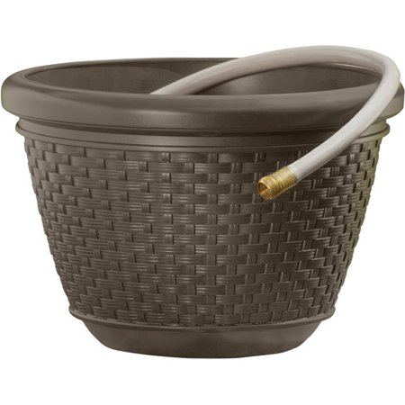 Suncast HPW 100' Resin Wicker Hose Pot - - Suncast Hose Storage