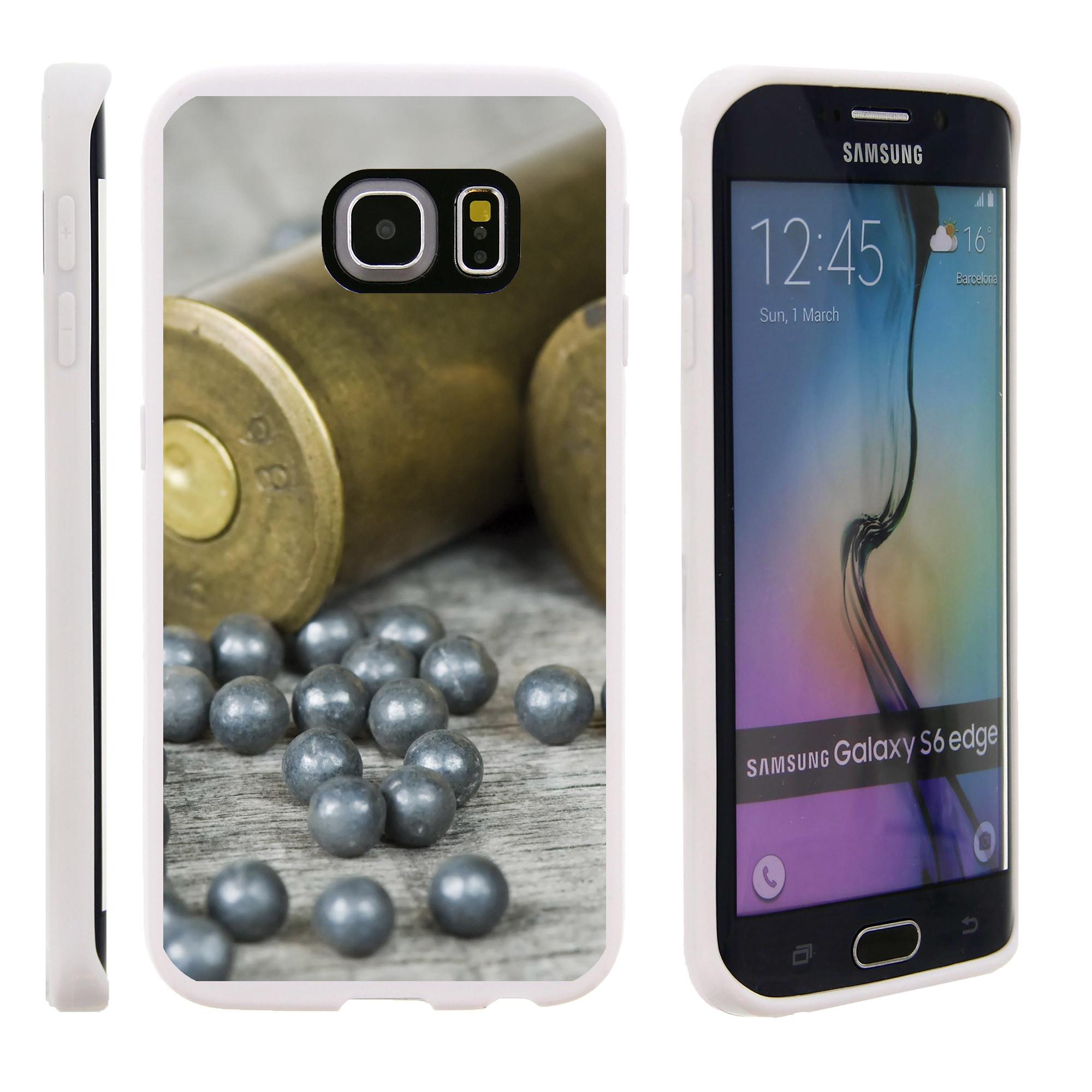 Samsung Galaxy S6 Edge G925, Flexible Case [FLEX FORCE] Slim Durable TPU Sleek Bumper with Unique Designs - Gunpowder balls