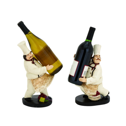 Image of ABC Home Collection 2 Piece Tabletop Wine Bottle Rack Set
