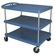 ZORO SELECT MY2636-34BU Polymer (Shelf) Raised Handle Utility Cart 500 lb.