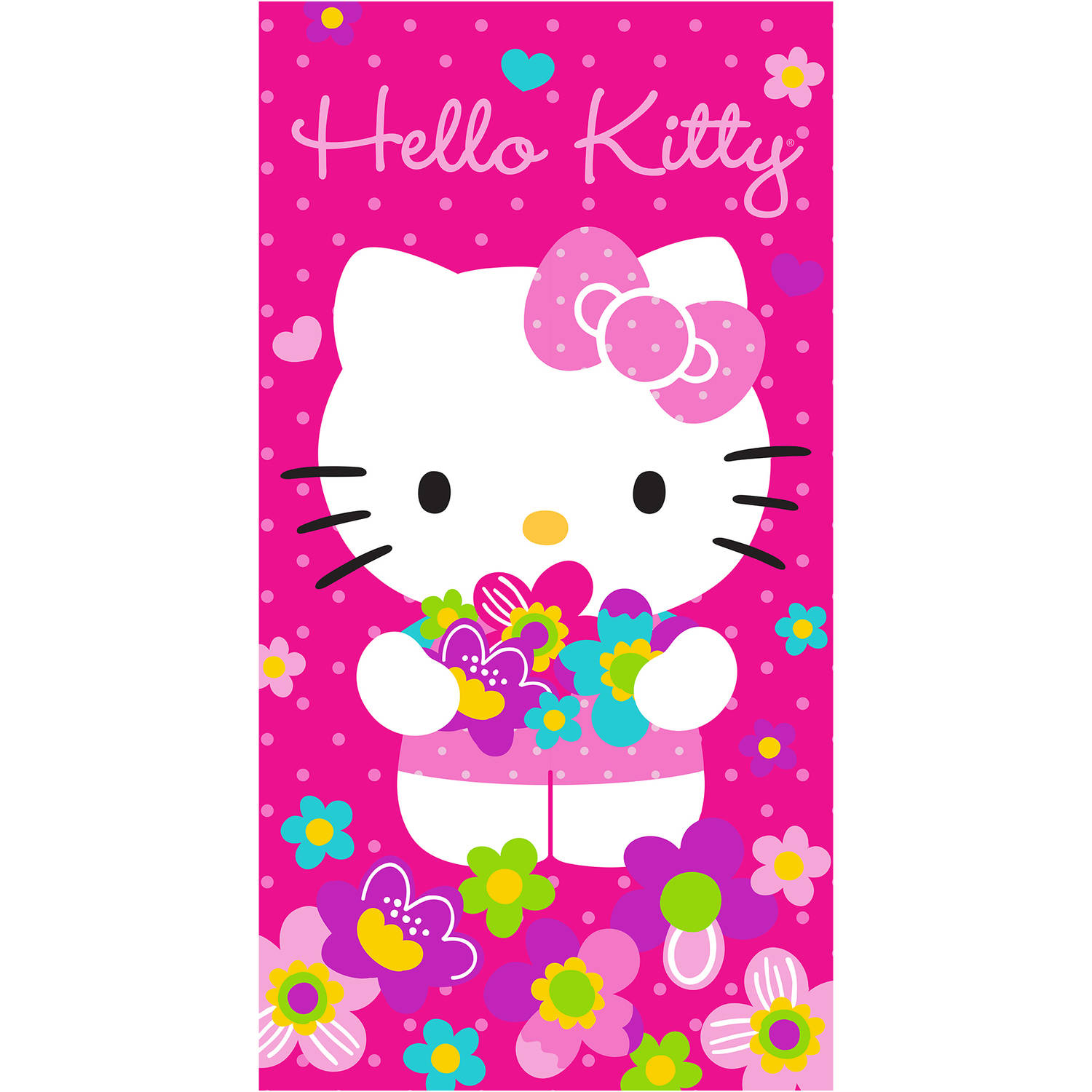 Hello Kitty 'Bunches of Flowers' Kids Sleeping Bag and Tote