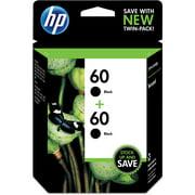 HP 60 Ink Cartridges - Black, 2 Cartridges (CZ071FN)