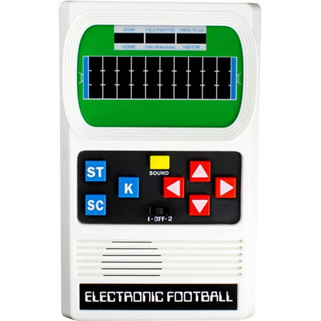 Milton Bradley Electronic Handheld Game - Football Electronic Game - Handheld - Mattel Classic