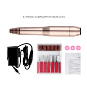 Coolmade Compact Portable Electric Nail Drill - Light Electrical Professional Nail File Kit For Acrylic, Gel Nails, Manicure Pedicure Polishing Shape Tools Design For Home Salon Use(Rose Gold)