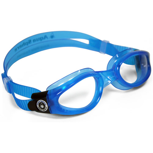 Kaiman Blue Goggles, Clear Lens, Small Fit