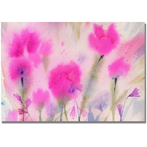 "Trademark Art ""Fushia Flowers"" Canvas Wall Art by Shelia Golden"