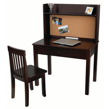 pinboard kids desk with chair and hutch. Black Bedroom Furniture Sets. Home Design Ideas