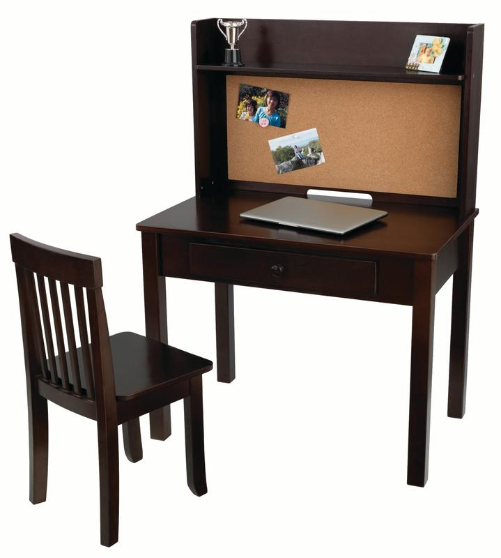 KidKraft Pinboard Kids Desk with Chair and Hutch