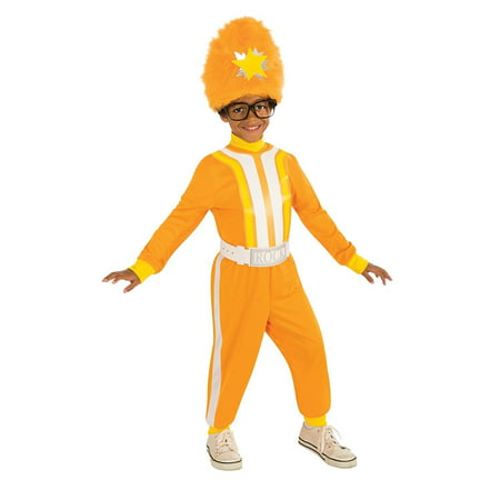 Child DJ Lance Rock Costume Furry Hat Orange Tracksuit Yo Gabba TV Nick Jr Toddler 1-2 Hip Hop Breakdancer w/ Belt Buckle + Funky Glasses - Junior Costumes