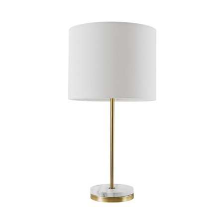 "Globe Electric Versailles 19"" Soft Gold Table Lamp with Faux Marble Accent, 67044"