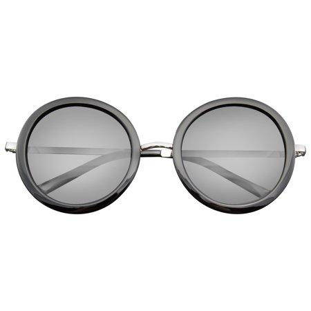 Emblem Eyewear - New Round Circle Fashion Designer Celebrity Womans Sunglasses New Ladies Celebrity Fashion
