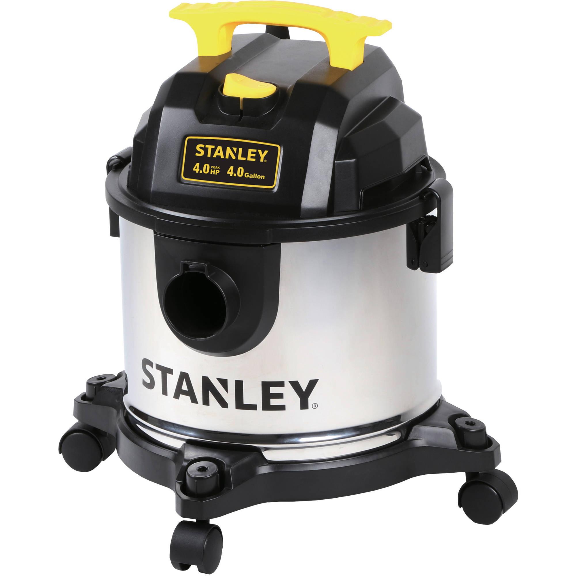 Stanley 4 Gallon 4 Peak HP Stainless Steel Wet/Dry Vac