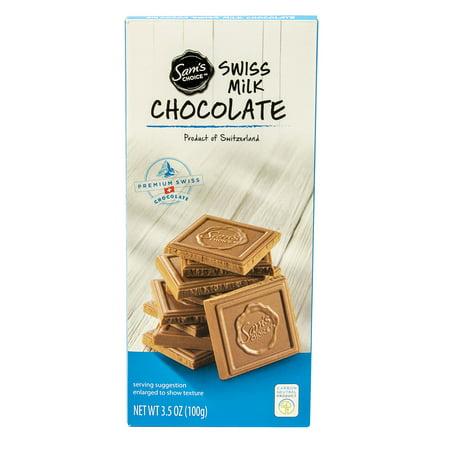 Sam's Choice Swiss Milk Chocolate, 3.5 - 3.5 Oz To Cups