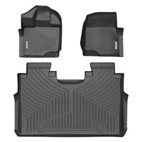 All-Weather Floor Mats Liners SuperCrew Cab Compatible for 2015-2020 Ford F-150 Unique Black TPE All-Weather Guard, Includes 1st & 2nd Front Row and Rear Floor Liner Full Set